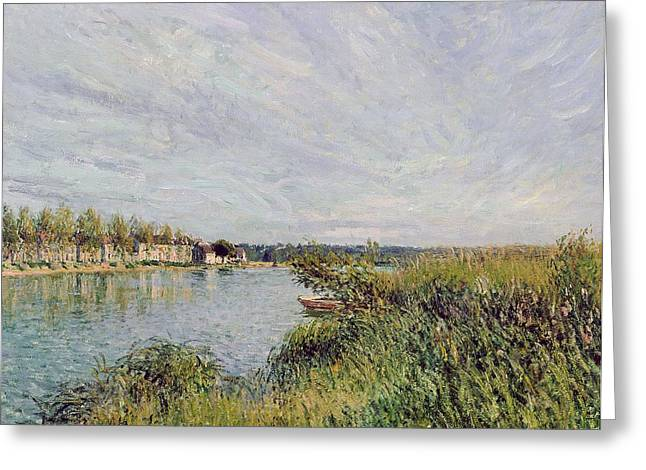 River View Greeting Cards - View of Saint Mammes Greeting Card by Alfred Sisley