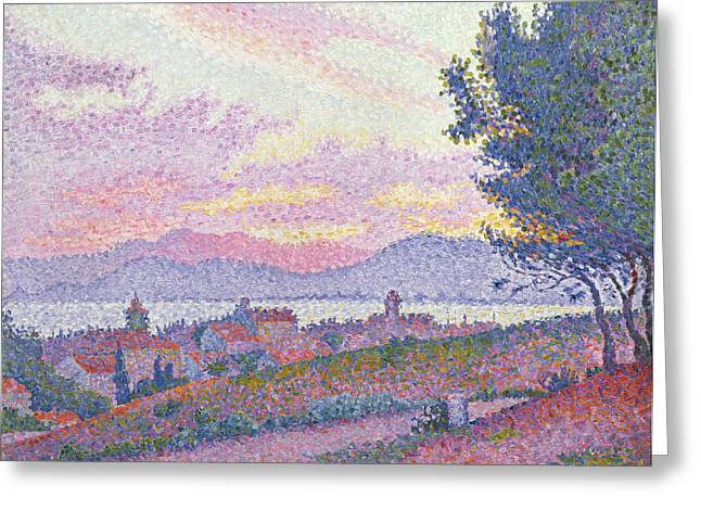 Saint-tropez Greeting Cards - View of Saint Tropez Greeting Card by Paul Signac