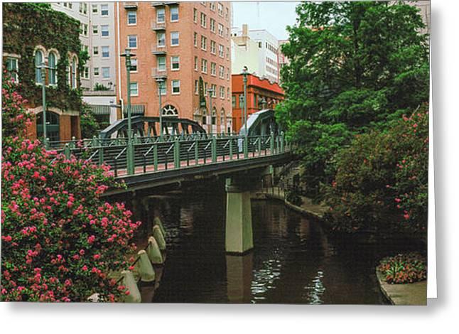 View Of San Antonio River Walk, San Greeting Card by Panoramic Images