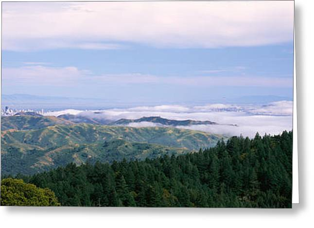 Marin County Greeting Cards - View Of San Francisco From Mt Greeting Card by Panoramic Images