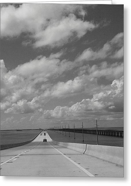 Bahia Honda State Park Greeting Cards - View of Seven Mile Bridge. Greeting Card by Christiane Schulze Art And Photography