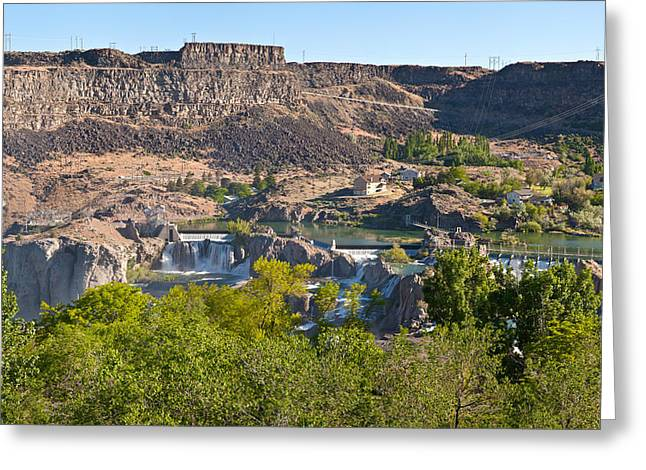 Fall River Scenes Photographs Greeting Cards - View Of Shoshone Falls In Twin Falls Greeting Card by Panoramic Images