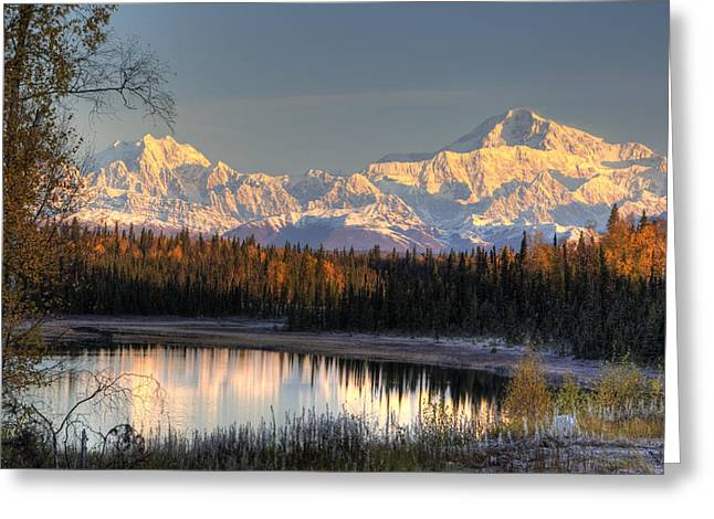 Hdr Landscape Greeting Cards - View Of Southside Mount Mckinley And Greeting Card by Michael Criss