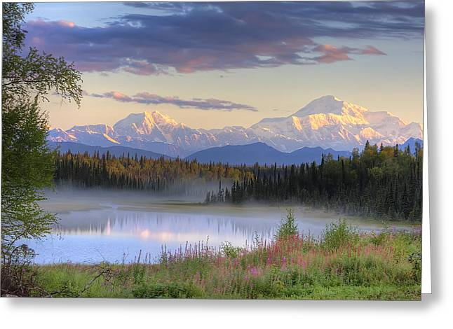 Hdr Landscape Greeting Cards - View Of Southside Of Mt. Mckinley, Mt Greeting Card by Michael Criss