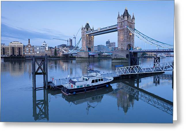 Katharine Greeting Cards - View Of St. Katharine Pier And Tower Greeting Card by Panoramic Images