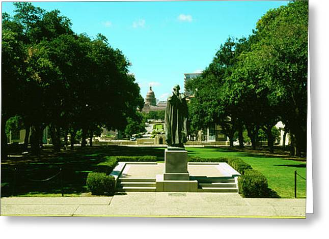 View Of State Capitol From University Greeting Card by Panoramic Images