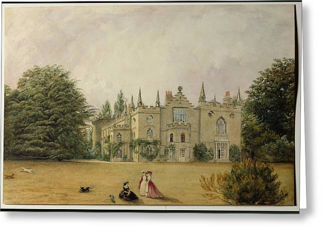 Grey Clouds Greeting Cards - View Of Strawberry Hill Middlesex Greeting Card by Gustave Ellinthorpe Sintzenich