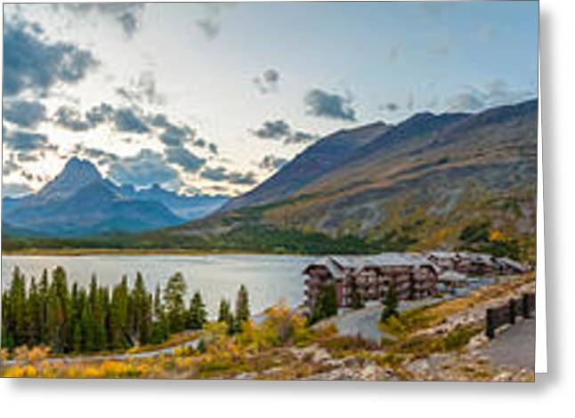 Many Glacier Greeting Cards - View Of Swiftcurrent Lake, Many Glacier Greeting Card by Panoramic Images