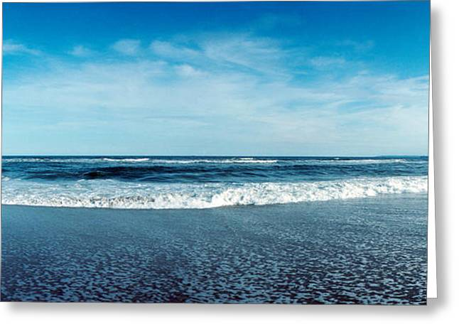 York Beach Greeting Cards - View Of The Atlantic Ocean At Fort Greeting Card by Panoramic Images
