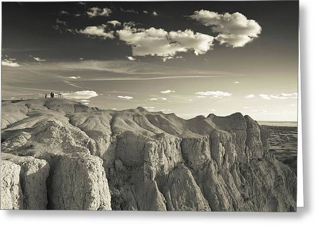 View Of The Badlands National Park Greeting Card by Panoramic Images