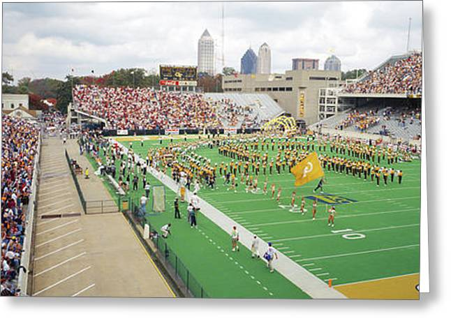 View Of The Bobby Dodd Stadium Greeting Card by Panoramic Images