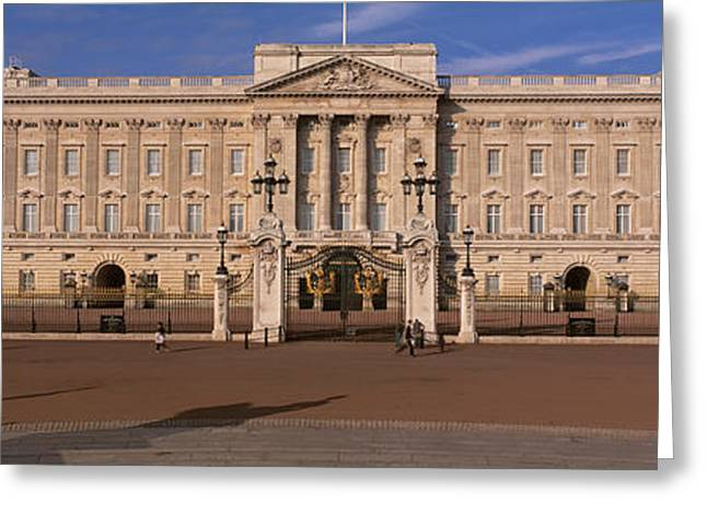 Buckingham Palace Greeting Cards - View Of The Buckingham Palace, London Greeting Card by Panoramic Images