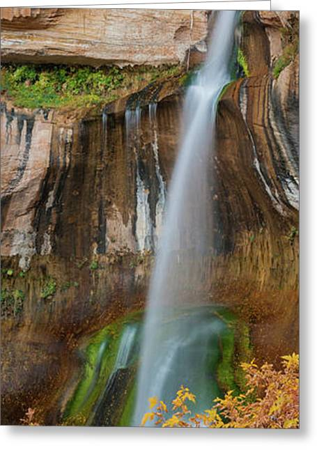 View Of The Calf Creek Falls, Grand Greeting Card by Panoramic Images