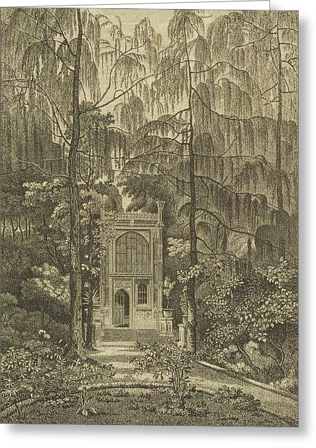 Neo-gothic-style Greeting Cards - View Of The Chapel In The Garden Greeting Card by William Pars