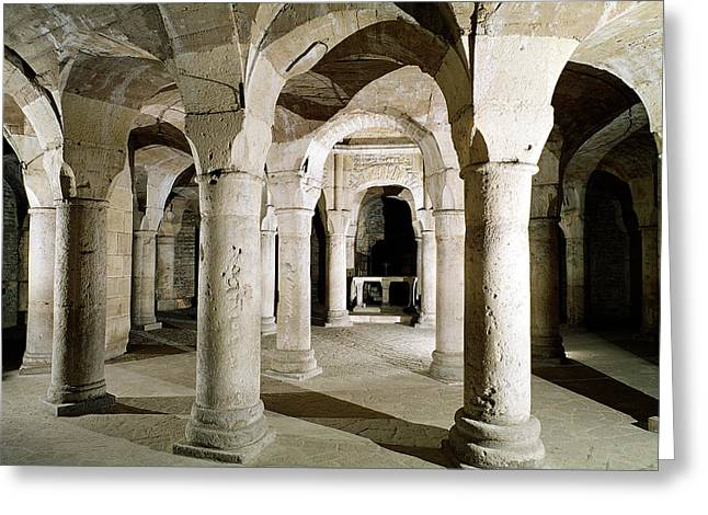 View Of The Crypt Photo Greeting Card by French School