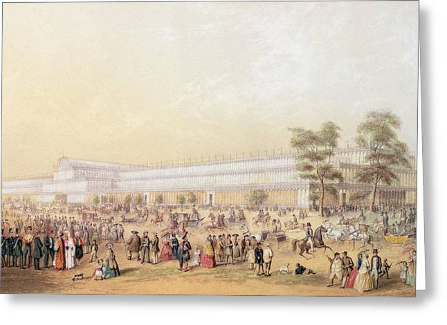 View Of The Crystal Palace Greeting Card by George Baxter