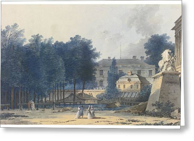 Champs Greeting Cards - View Of The Entry To The Champs-elysees Greeting Card by Louis-gabriel Moreau
