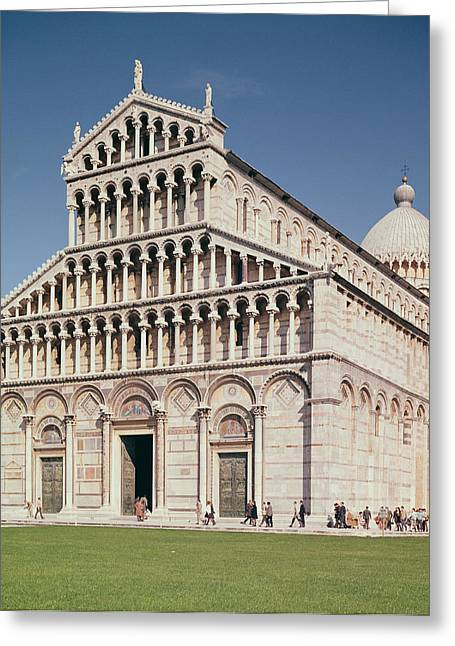 Duomo Greeting Cards - View Of The Facade Of The Cathedral, Completed In 1063 Photo Greeting Card by Buscheto