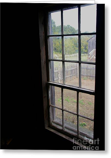 Window Of Life Greeting Cards - View of the Garden Pioneer House Greeting Card by JW Hanley