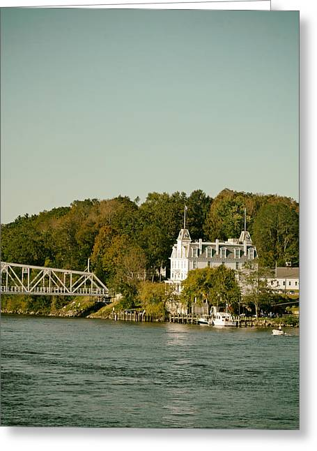 East Haddam Connecticut Greeting Cards - View of the Goodspeed Opera House Greeting Card by Mountain Dreams