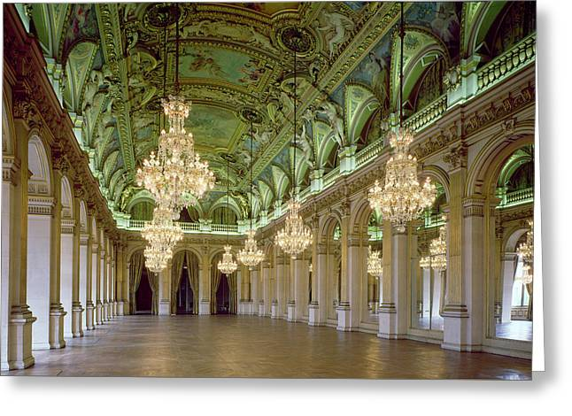 View Of The Grande Salle Des Fetes Greeting Card by French School
