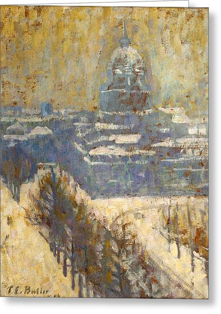Invalides Greeting Cards - View of the Invalides Greeting Card by Theodore Earl Butler