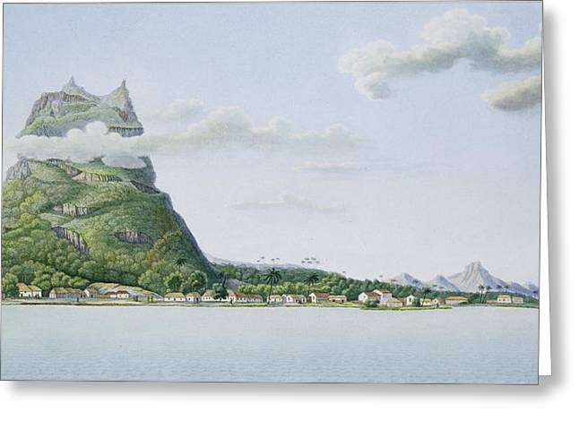 Oceanic Landscape Greeting Cards - View Of The Island Of Bora Bora Greeting Card by Antoine Lejeune and Chazal