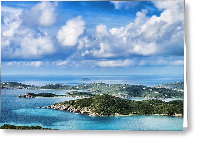 View Of The Islands Greeting Card by Kathy Jennings