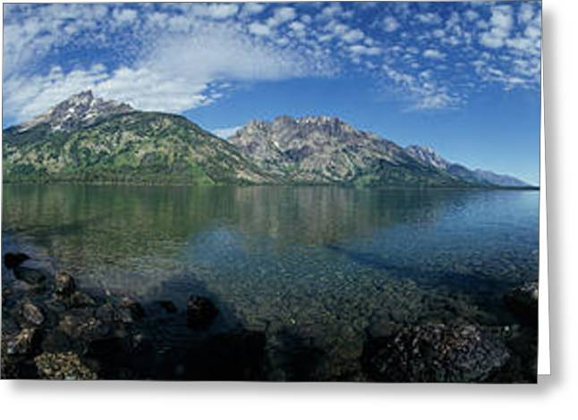 View Of The Jenny Lake, Grand Teton Greeting Card by Panoramic Images
