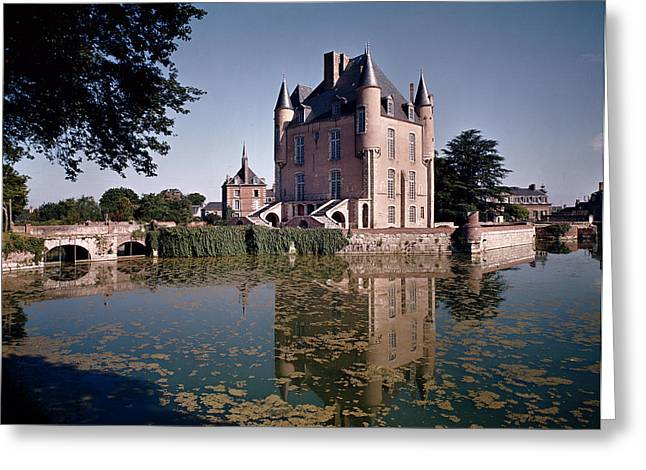 Stream Greeting Cards - View Of The Keep Of The Castle, Built 1355-88 Photo Greeting Card by French School