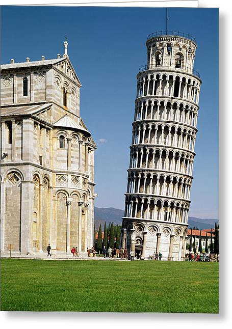 Campanile Greeting Cards - View Of The Leaning Tower Photo Greeting Card by Bonannus of Pisa