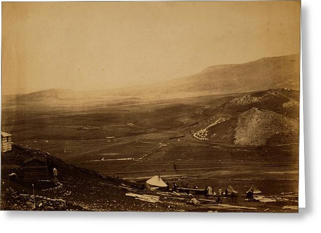View Of The Lines Of Balaclava From Guards Hill Canroberts Greeting Card by Quint Lox