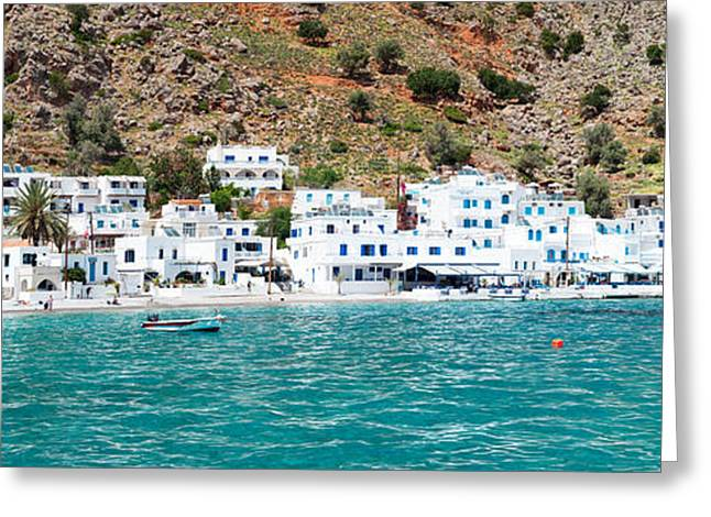 Crete Greeting Cards - View Of The Loutro, Chania, Crete Greeting Card by Panoramic Images