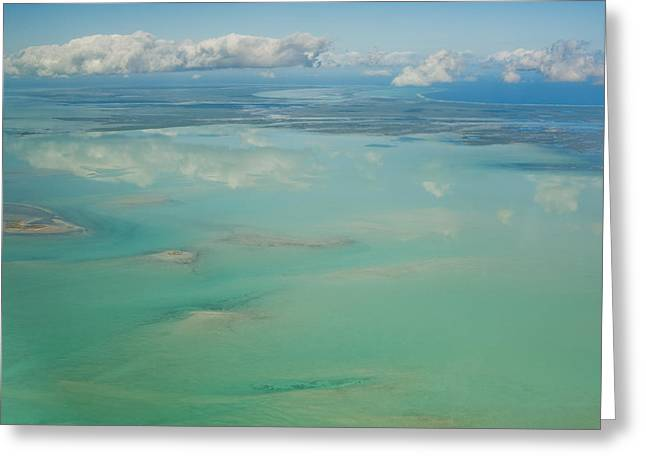 Turks And Caicos Islands Greeting Cards - View Of The Ocean And Clouds In The Sky Greeting Card by Helene Cyr