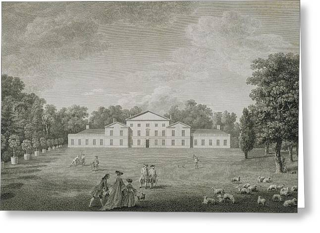 Facades Greeting Cards - View Of The Palace At Kew Greeting Card by John Joshua Kirby