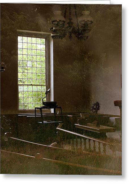 Music Of The Past Greeting Cards - View of the Past Greeting Card by Marcia Lee Jones
