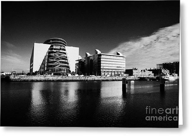 Convention Greeting Cards - View Of The River Liffey And The Convention Centre Dublin Republic Of Ireland Greeting Card by Joe Fox