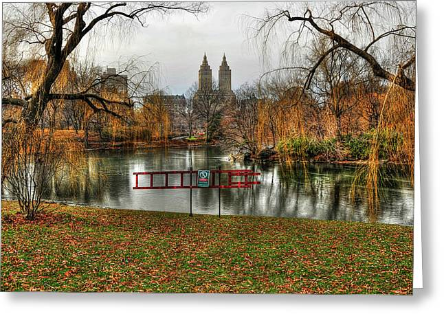 El Dorado Greeting Cards - View of the San Remo Building from Central Park Greeting Card by Randy Aveille
