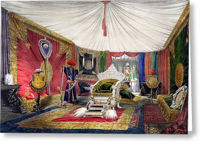 Fan Drawings Greeting Cards - View Of The Tented Room And Ivory Greeting Card by Peter Mabuse