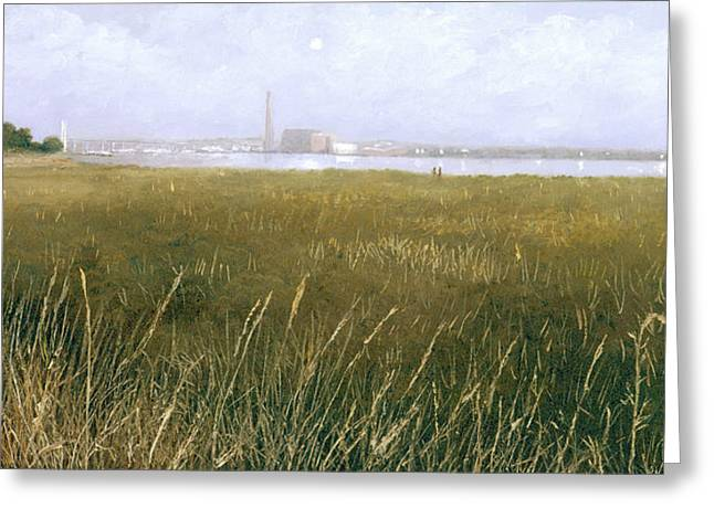 Eric Bellis Greeting Cards - View of the Thames from Rainham Marsh Greeting Card by Eric Bellis