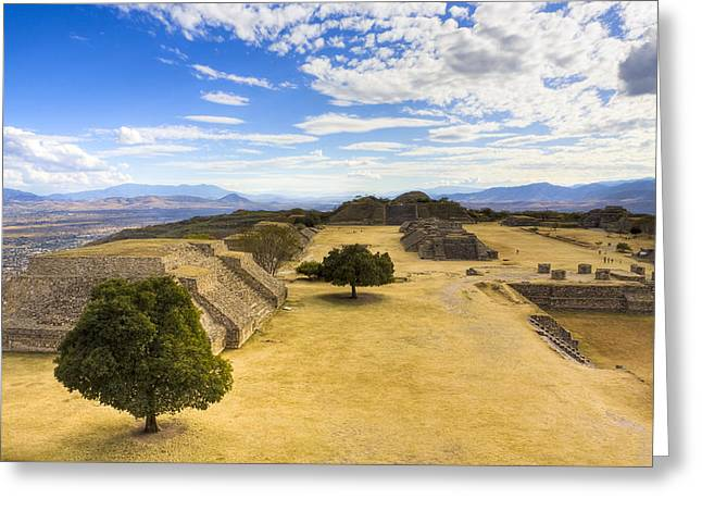 View Of The Zapotec In Oaxaca Greeting Card by Mark E Tisdale