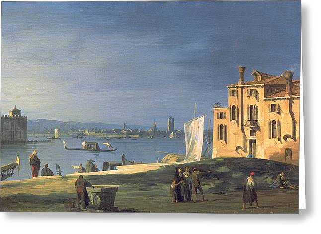 Giovanni Greeting Cards - View of Venice Greeting Card by Canaletto