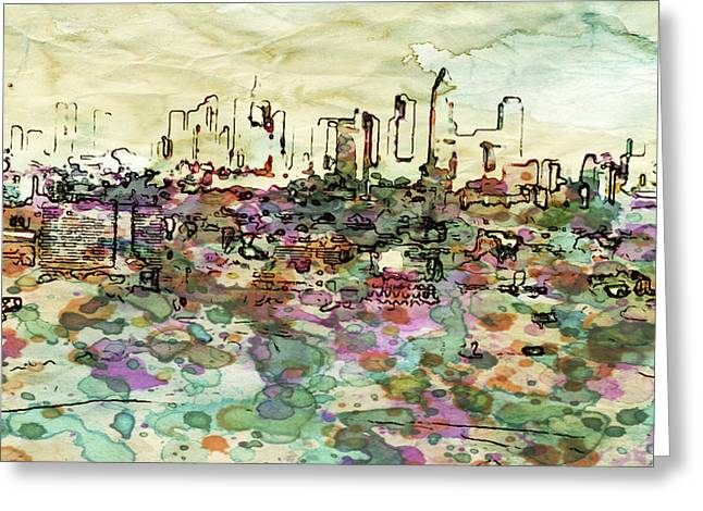 View On Frankfurt Downtown Greeting Card by Yury Malkov