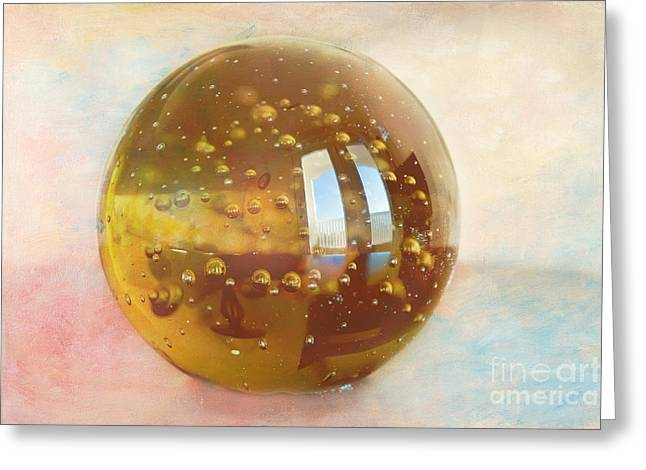 Paperweight Greeting Cards - View Out the Window Greeting Card by Kay Pickens
