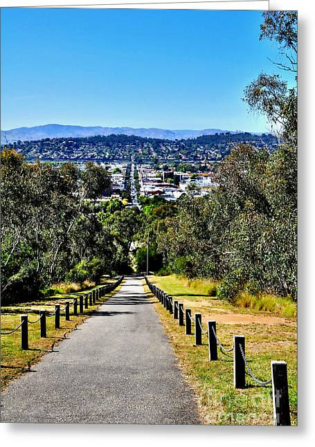 View Over Albury - Nsw Greeting Card by Kaye Menner