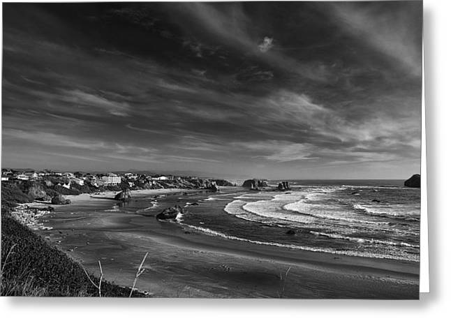 Ocean Art Photographs Greeting Cards - View over Bandon Greeting Card by Andrew Soundarajan