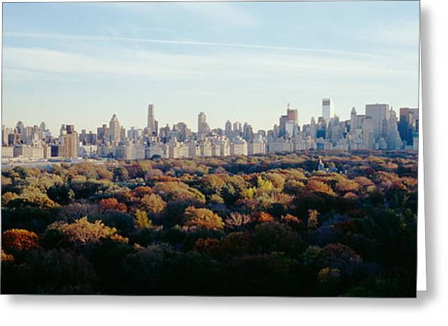 Fifth Avenue Greeting Cards - View Over Central Park, Manhattan, Nyc Greeting Card by Panoramic Images