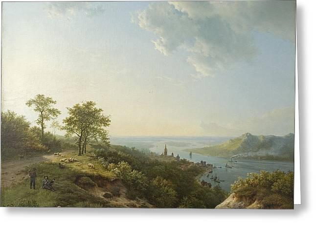 River View Greeting Cards - View Over Heidelberg, 1837 Greeting Card by Barend Cornelis Koekkoek