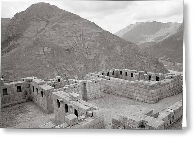 Landscape Of Pisac Greeting Card by Shaun Higson