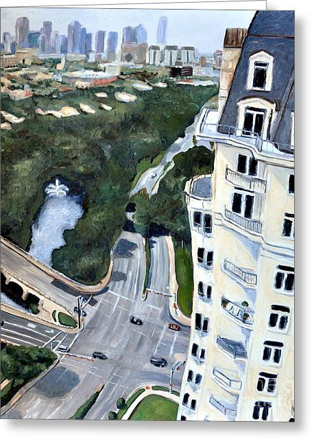 Recently Sold -  - Oak Creek Greeting Cards - View over Turtle Creek Greeting Card by Sandra Mucha